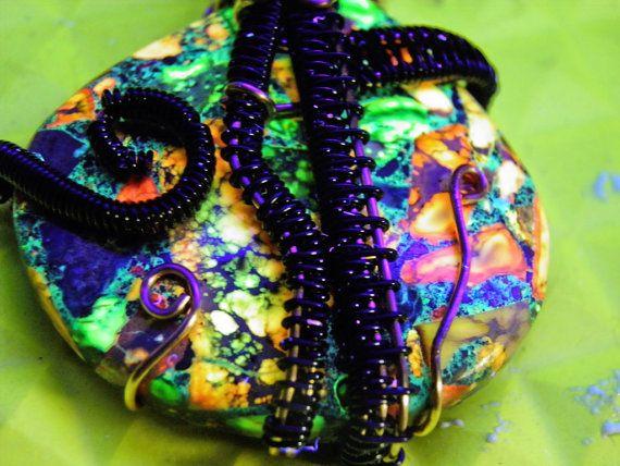 Amazing Uv reactive multicolor Sea Sediment by Knotyourordinary
