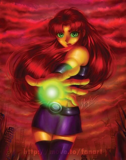Starfire teen titans This is good, if only they made the face( nose especially) not so anime.