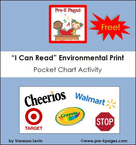 41 Best Environmental Print Activities For Preschool Images On