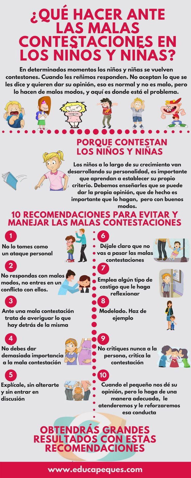 ¿Por qué dan malas contestaciones los niños y niñas?. 10 Consejos para frenar las malas contestaciones en los niños y niñas Aprende todo sobre de los bebes en somosmamas.com.ar.