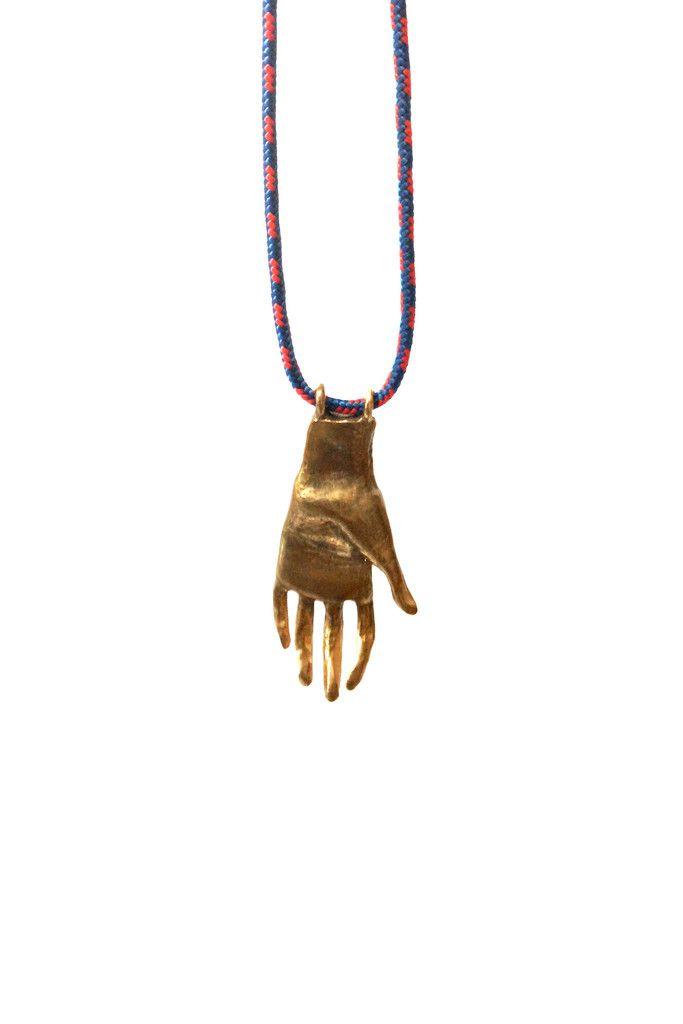 Bronze Hand Necklace