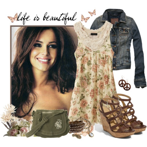polyvore.: Cowgirl Boots, Flowers Dresses, Cinderella Closet, Fashion Style, Clothing Savvy, Clothing Closet, Cute Outfits, Cowboys Boots, Spring Outfits