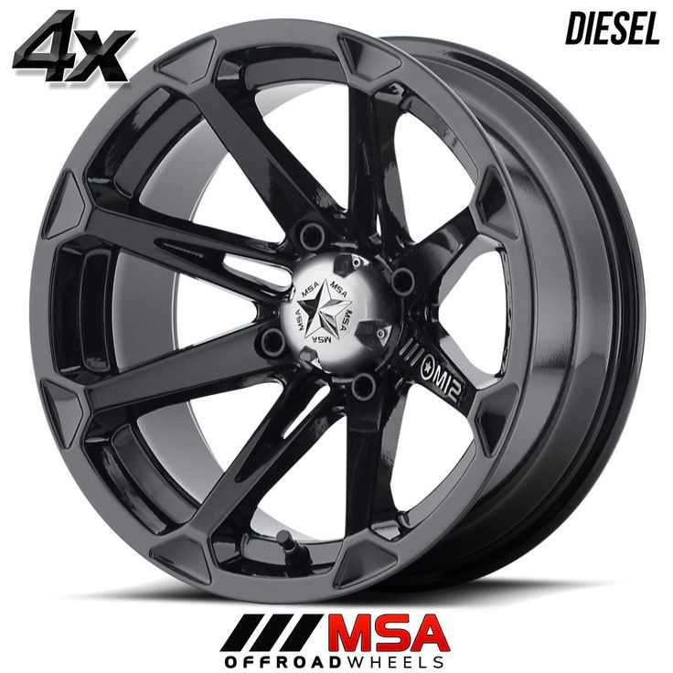 4 MSA DIESEL 14x7 4x137.00 Machined w/Black OFST:10mm 14 Inch Rims 14X7 Wheels