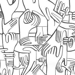 Geoff McFetridge | hands wallpaper | 2012