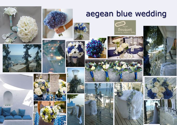 Greek Aegean Blue Wedding Inspiration