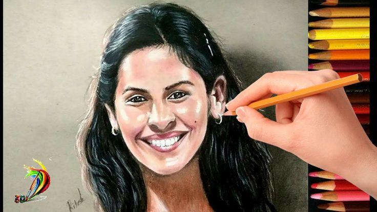 Awesome Realistic Drawing of Saina Nehwal | 3D Drawing of Saina Nehwal |...