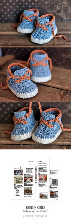 Brogue Boot Crochet Pattern for purchase