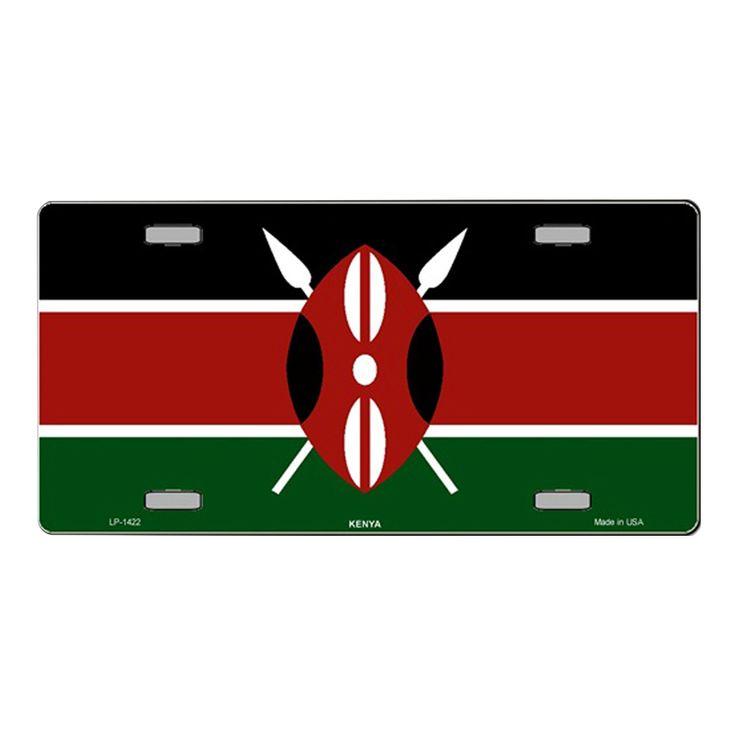 Smart Blonde Kenya Flag Vanity Metal Novelty License Plate Tag Sign