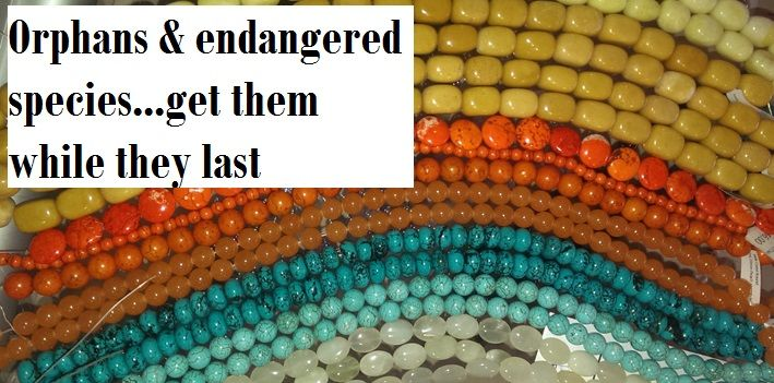 Orphans -get them while they last Bead Them Up - where your Jewellery designs begin