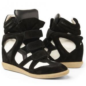 Isabel Marant  High Top Black and White Suede SneakerShoes, Isabelmarant, Marant Sneakers, High Tops, Marant Bekket, Black White, Hightops, Isabel Marant, Bekket High