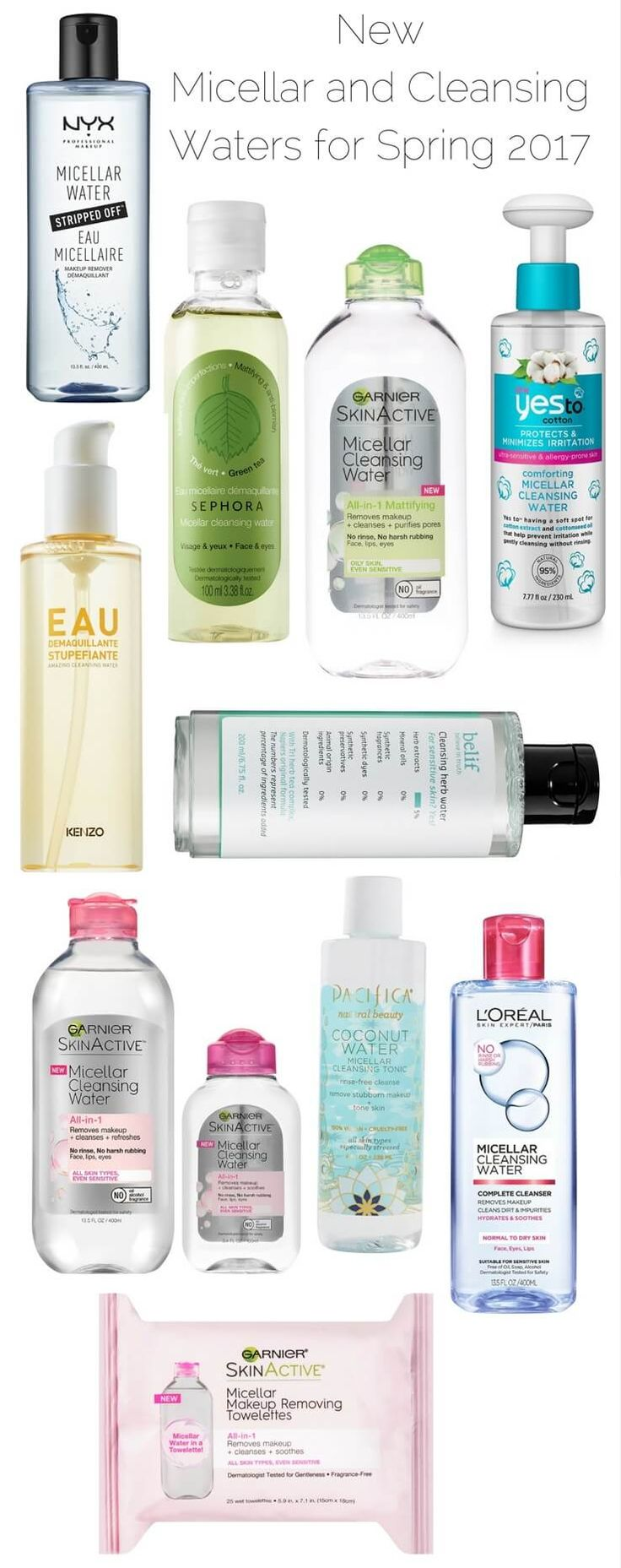 I admit I'm not a huge micellar water fan unless I'm in a hurry. My cleansing routine is rather long but I embrace it because my skin looks great when I take good care of. I never feel fully clean when I use solely a micellar water. So, typically if I'm home late and I'm […] The post 10 New Micellar and Cleansing Waters Available for Spring 2017 appeared first on Musings of a Muse. :: Beauty