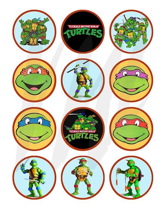 TEENAGE MUTANT NINJA TURTLEs  Craft Circles  by vintagewarehouse, $2.50