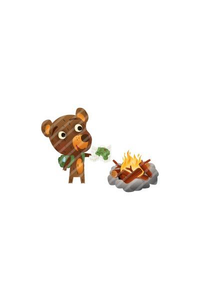 Bear Cooking Vector  #bear #handdrawn #vector #graphics #pack #vectorpack #animal #fire http://www.vectorvice.com/bear-vector