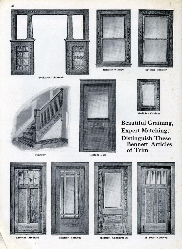 https://flic.kr/p/4SC67D | Bennett Homes - 1920 | Courtesy: www.antiquehome.org Doors, Stairway, Colonnade