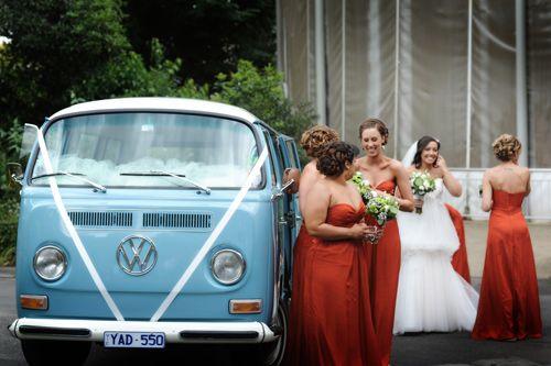 Stephanie, Brad and Kombi Love - Melbourne Wedding #kombilove