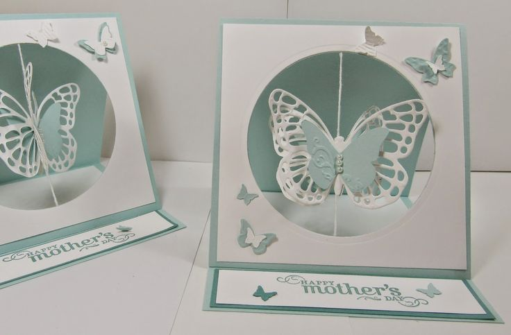 Personally Yours: Stampin' Up! Butterflies Thinlits: Mother's Day Easel Suspension Spinning Card