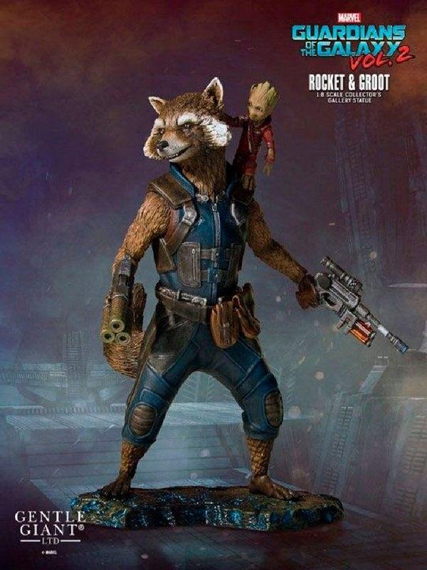 Rocket Gardien De La Galaxie : rocket, gardien, galaxie, Marvel,, Guardians, Galaxy, Vol.2, Statue, Rocket, Groot, Gardiennes,, Groot,, Punisher