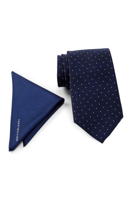 Tommy Hilfiger | Solid Silk Pocket Square & Silk Tie Set | Nordstrom Rack