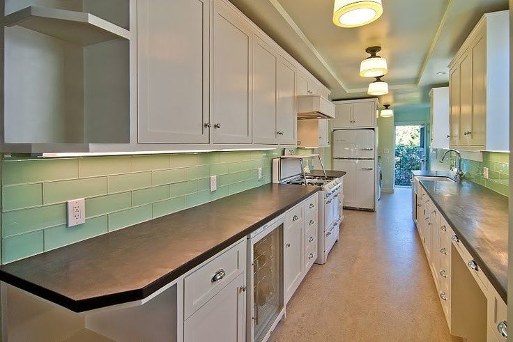 Seafoam Green Glass Subway Tile in Surf | Modwalls