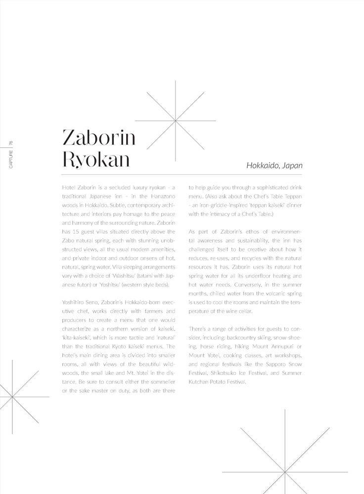 Capture Magazine Resort and Architecture 2016 | zaborin.com
