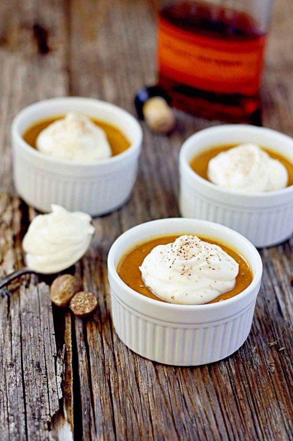 Pumpkin Pots de Créme with Maple Bourbon Whipped Creme