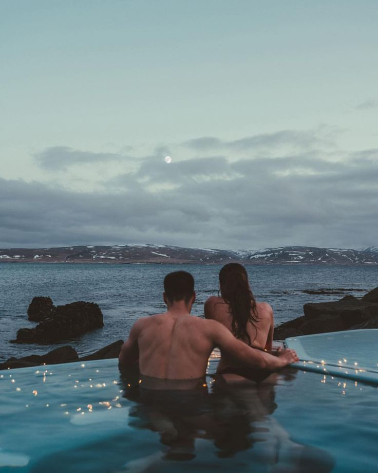 A national past time of Iceland is to lounge in a hot tub. This one is my favorite and best part of all, free to use! . . . . #couplegoals…