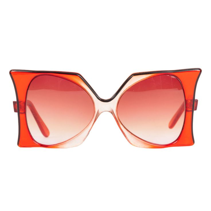 "1960's Iconic Pierre Cardin Oversize Red ""Delphine"" Sunglasses"