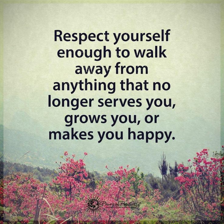 Respect yourself....