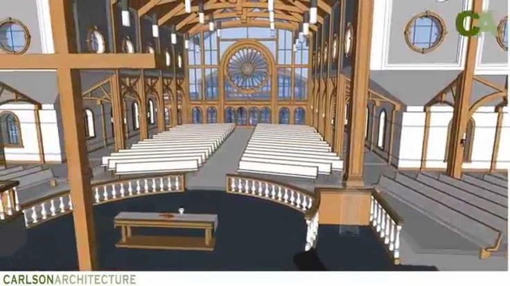 900 Seat Traditional Church Design by Carlson Architecture.