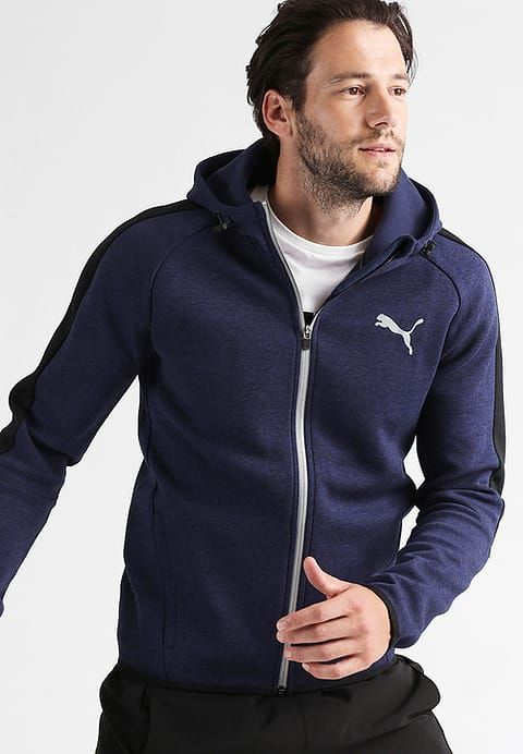 puma outlet, Puma Tracksuit top - peacoat heather Men Jumpers & Sweatshirts, puma online shopping of shoes attractive price