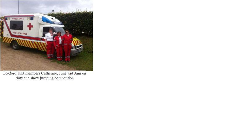 Volunteers giving first aid cover at Foxford Horse Jumping Show  www.redcross.ie
