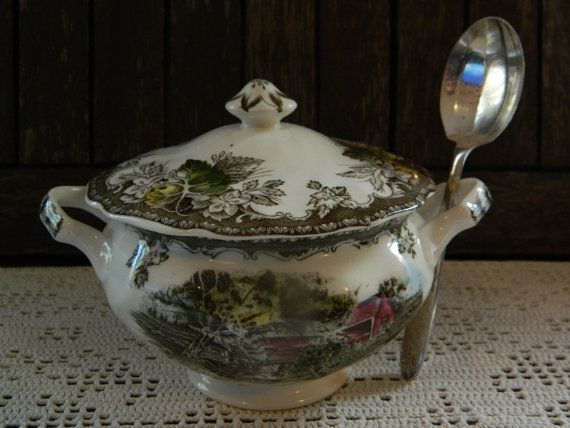 Johnson Brothers Friendly Village Sugar Bowl by ForeverTeaVintage