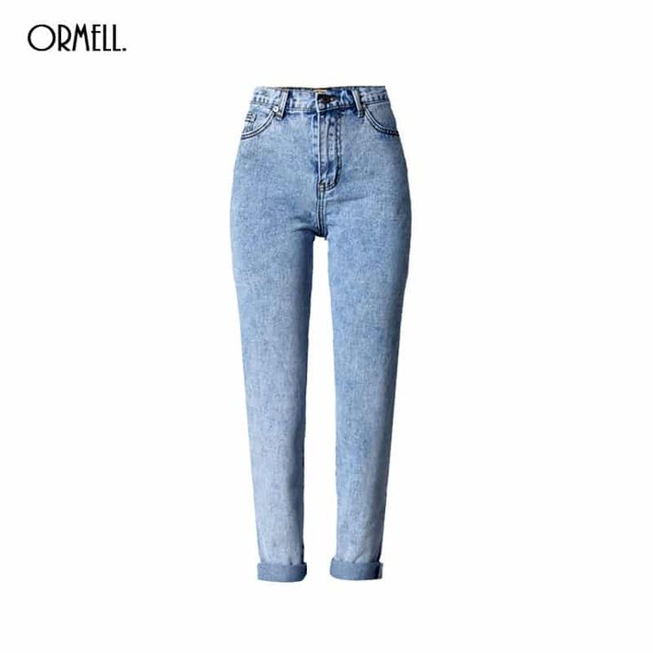 Blue Denim Holes Jeans Stylish Pockets High Waist //Price: $43.95 & FREE Shipping //     #fashion