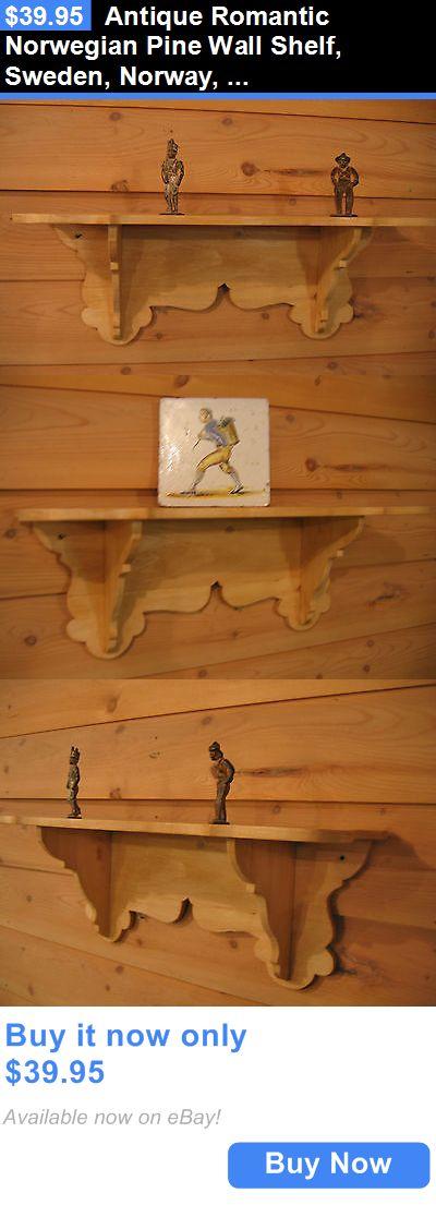 Antiques: Antique Romantic Norwegian Pine Wall Shelf, Sweden, Norway, Finland, Denmark BUY IT NOW ONLY: $39.95