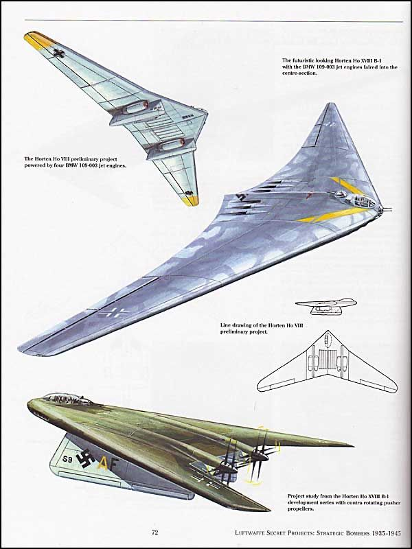 Never-build German heavy bomber concepts, all created for ...