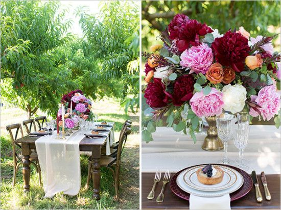 pink and red table setting ideas weddingchicks