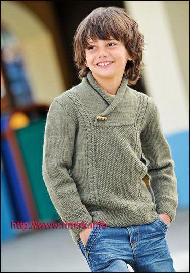 Пуловер цвета хаки для мальчика (спицы). Обсуждение на LiveInternet - Российский Сервис Онлайн-Дневников