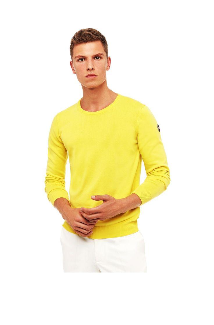 Pullover Colmar uomo 4453t 2qc 235 giallo spring summer 2017
