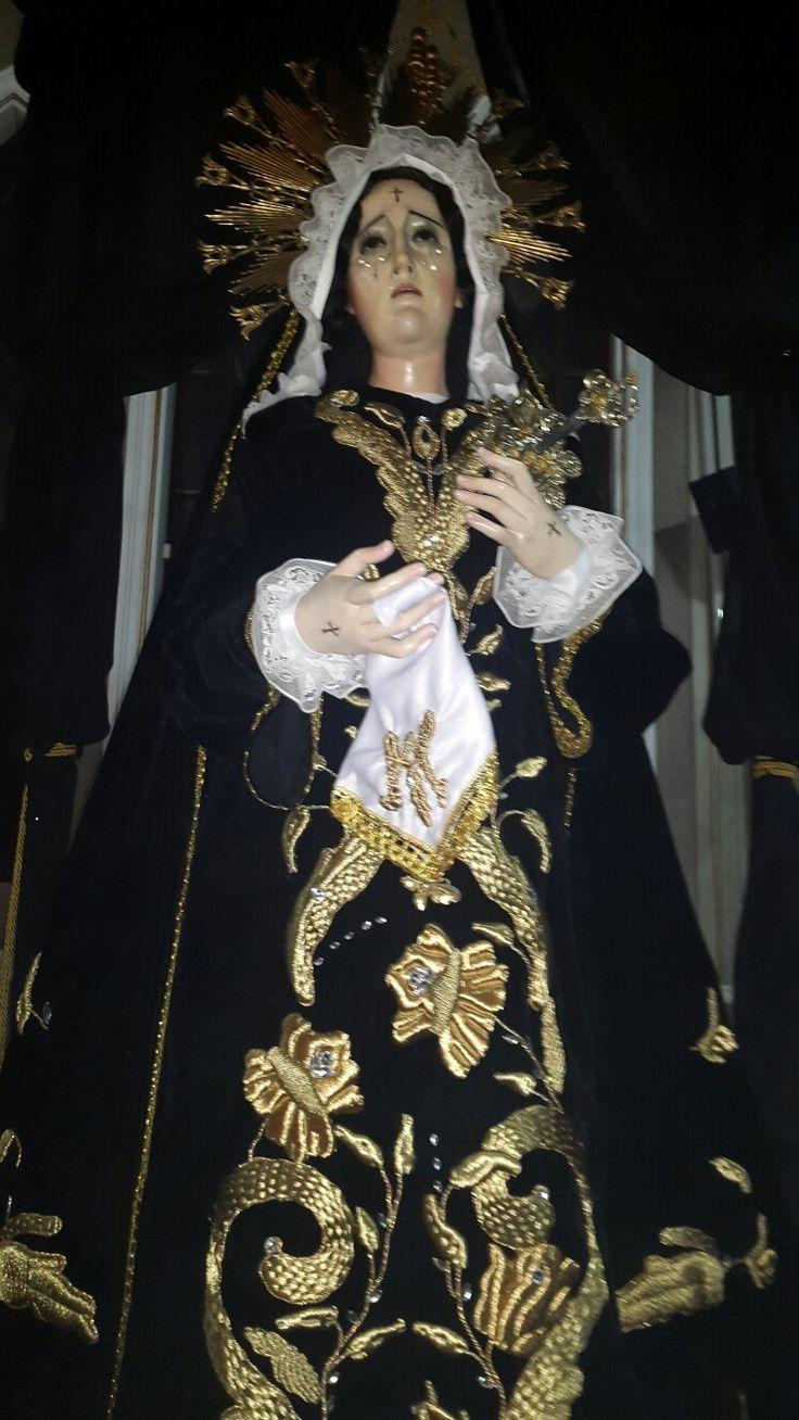 Santisima Señora De Dolores del Señor sepultado del templo de San Nicolas Quetzaltenango, Guatemala