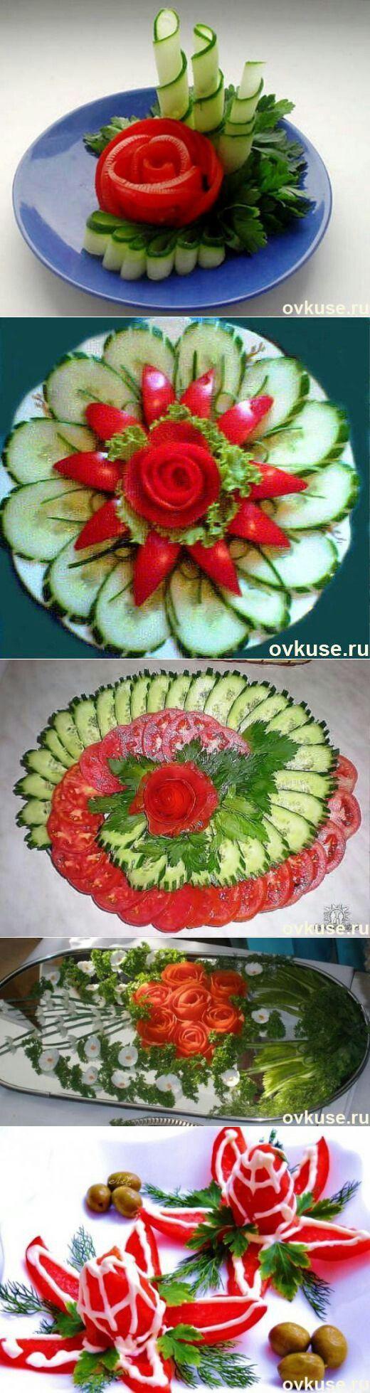 dekorative Gemüseplatte