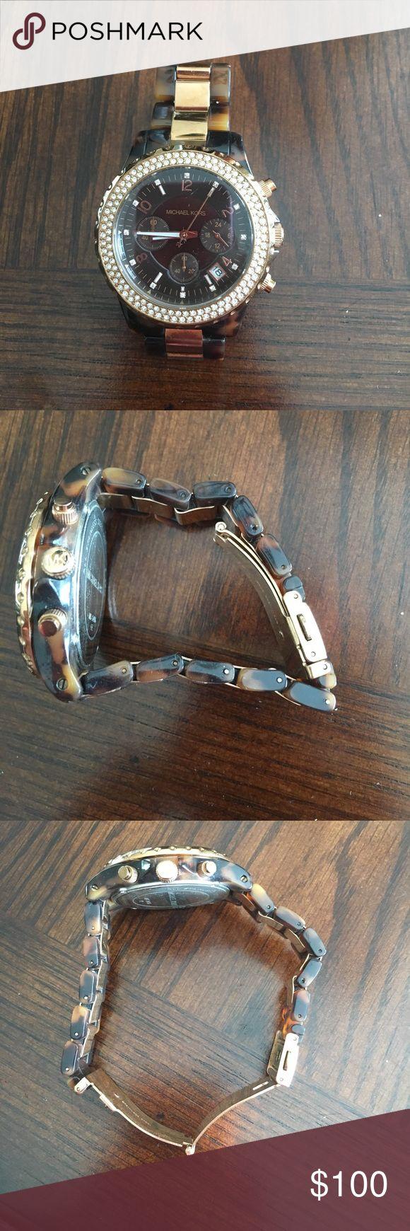 MK tortoise watch Worn once excellent shape! Michael Kors Accessories Watches