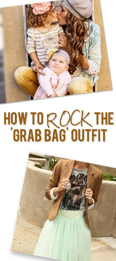 "Women's Fashion. How to Rock the Grab Bag Outfit...don't say ""I just can't pull it off"" ever again!! Here's how!"