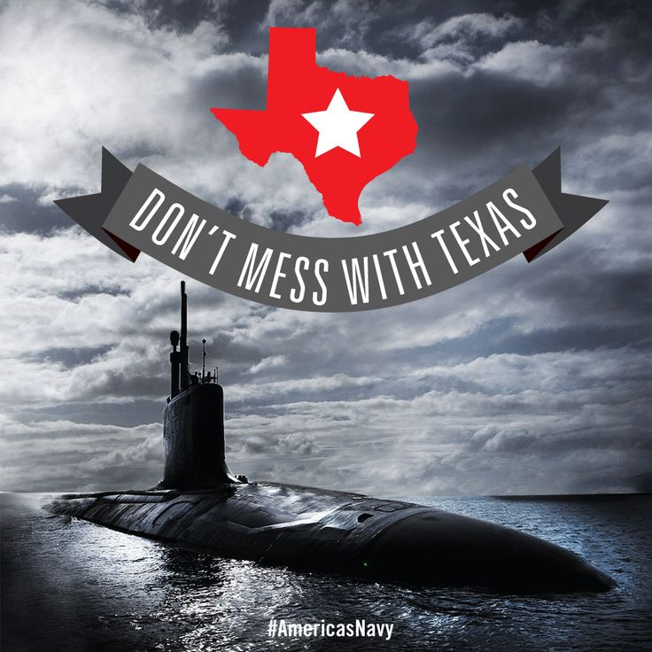 """The Virginia-class fast attack submarine USS Texas (SSN-775) is designed to operate in the open ocean and littoral zones armed with twelve Tomahawk® cruise missiles and four MK-48 torpedoes.If you encounter this sub on the wrong side of an engagement, you'll learn really quickly why this vessel's motto is """"Don't Mess With Texas.""""#AmericasNavy"""