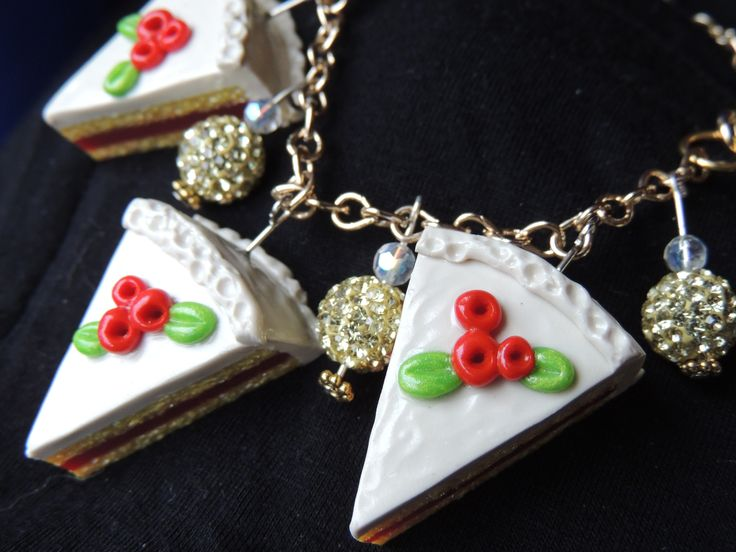 Cake slices turned into bracelet charms
