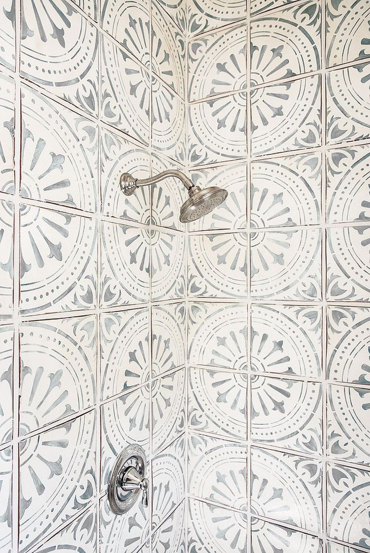 Mosaic liners art pattern mirrorred bathroom wall discount tiles - Loving Patterned Cement Tile