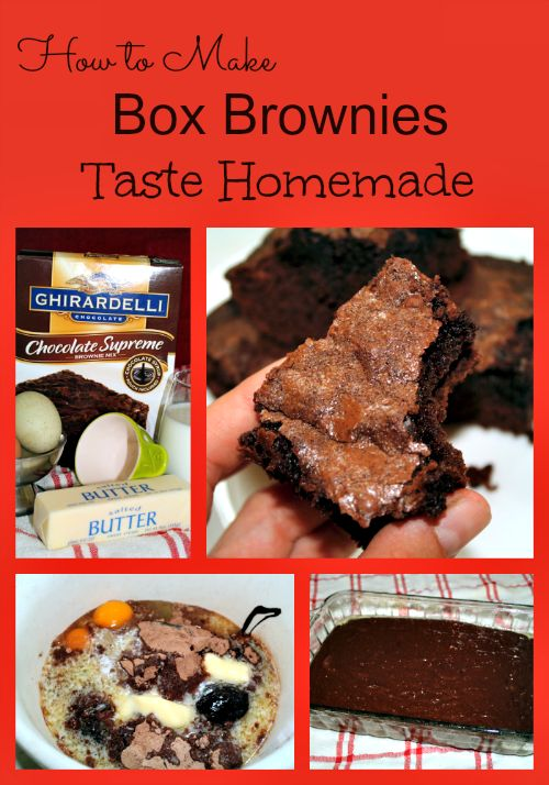 Learn How to Make Box Brownies Taste Homemade with only a few changes and additions to the ingredients. This will take your brownies from good to GREAT!