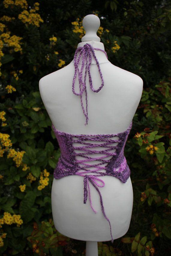 Crochet halter top // uk // festival clothing by SympaticoApparel