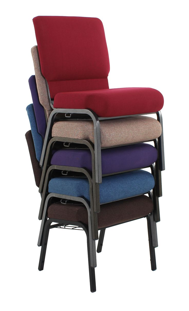 our church chairs are able to stack up to eight high for easy mobility and storage