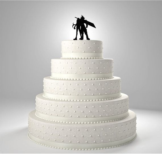 final fantasy wedding cake toppers cloud and tifa 7 cake topper by bee3dgifts 14247