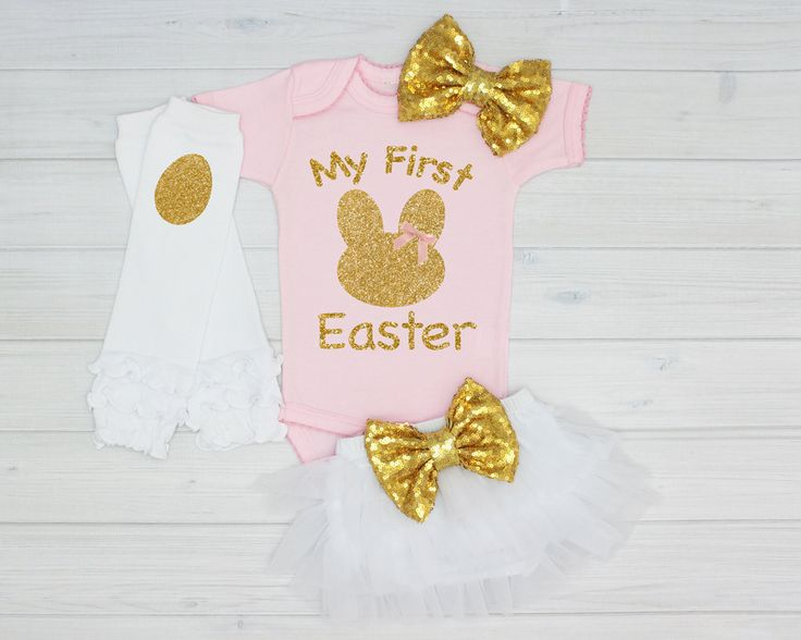 Pink My First #Easter Onesie, baby easter #outfit, #girls easter #outfit, easter t,  View more on the LINK: http://www.zeppy.io/product/gb/3/269126282/
